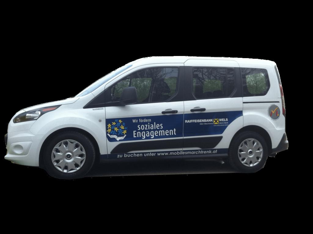 Rollstuhlgerechtes Carsharing in Machtrenk wird unterstützt von Raiffeisenbank